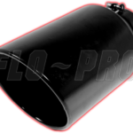 """Flo-Pro 4"""" Rolled Angle, Black Powder Coated Bolt On Exhaust Tips"""