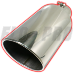 "Flo-Pro 4"" Rolled Angle, Stainless Steel Bolt/Clamp On Exhaust Tips"